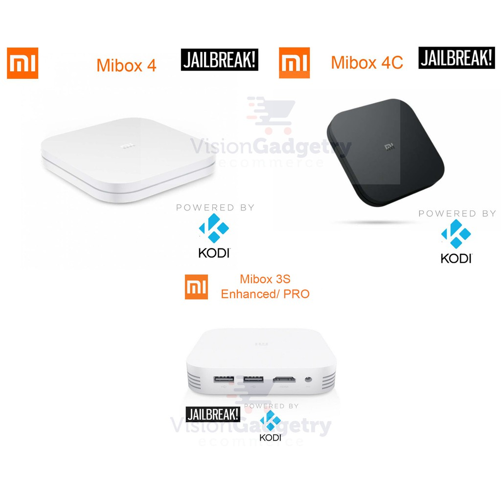 XiaoMi MiBox Box 4 4C 3S Enhanced 2019 Model Android TV 4k HD KODI IPTV