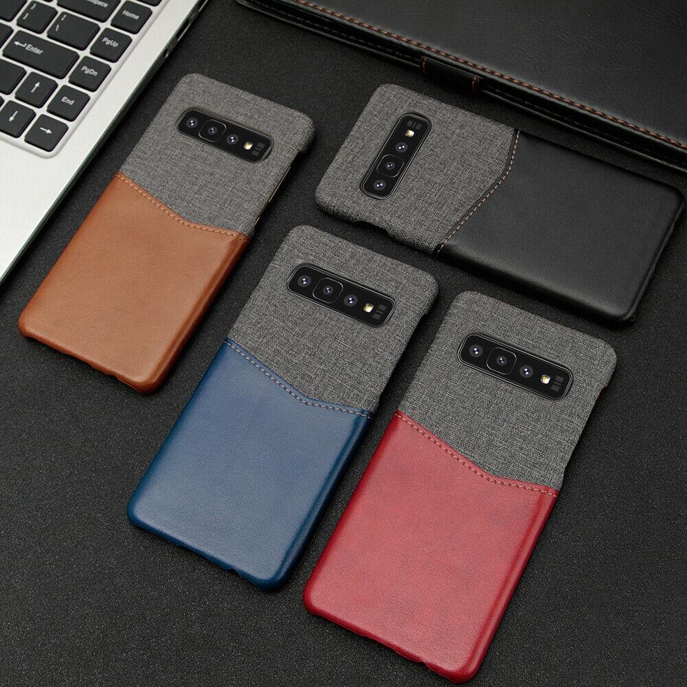 เคสสำหรับ Samsung Galaxy S 10 S 10 Plus Luxury Leather Case Card Slot H