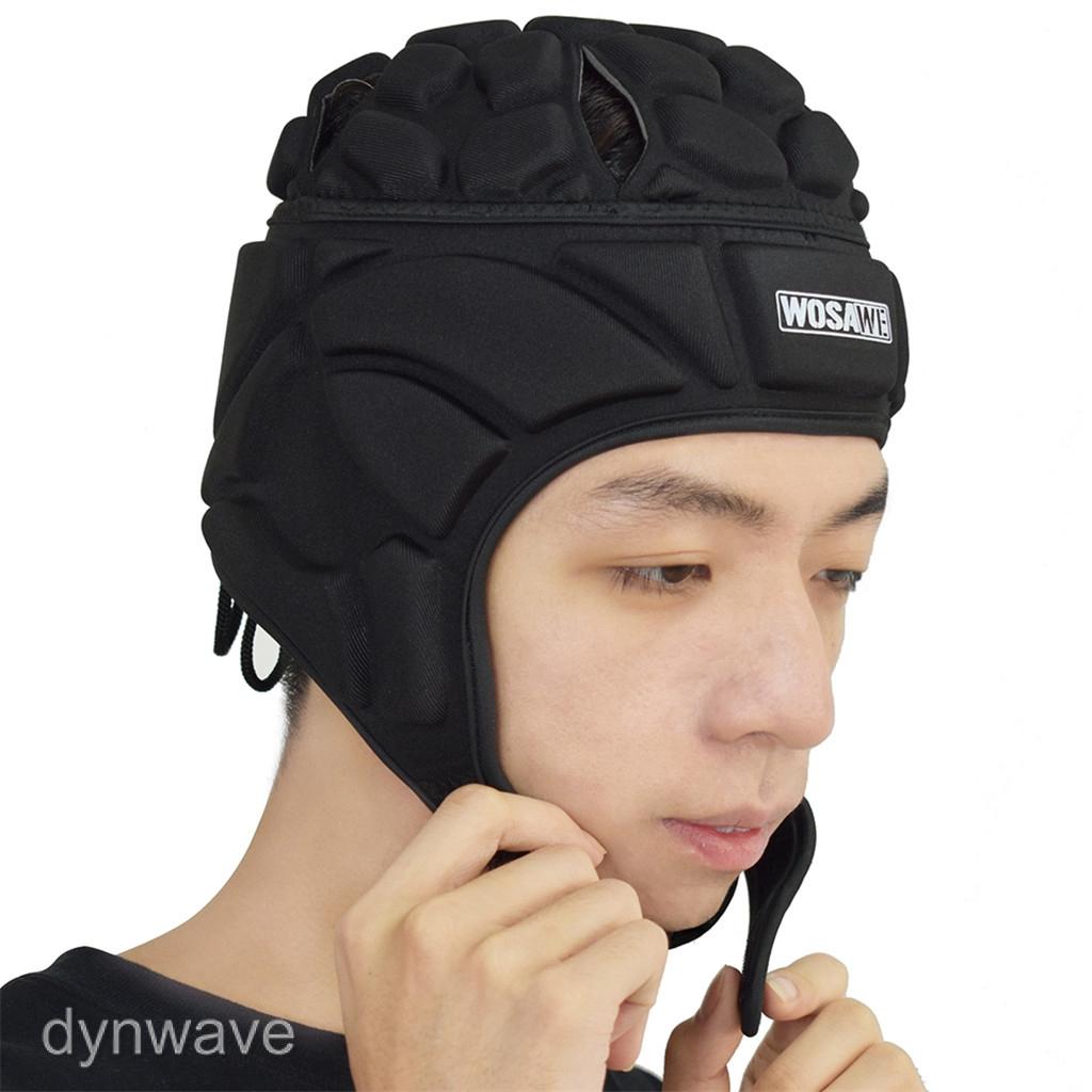 Mens Soccer Goalkeeper Helmet Rugby Head Guard Goalie Roller Hat Head Protector
