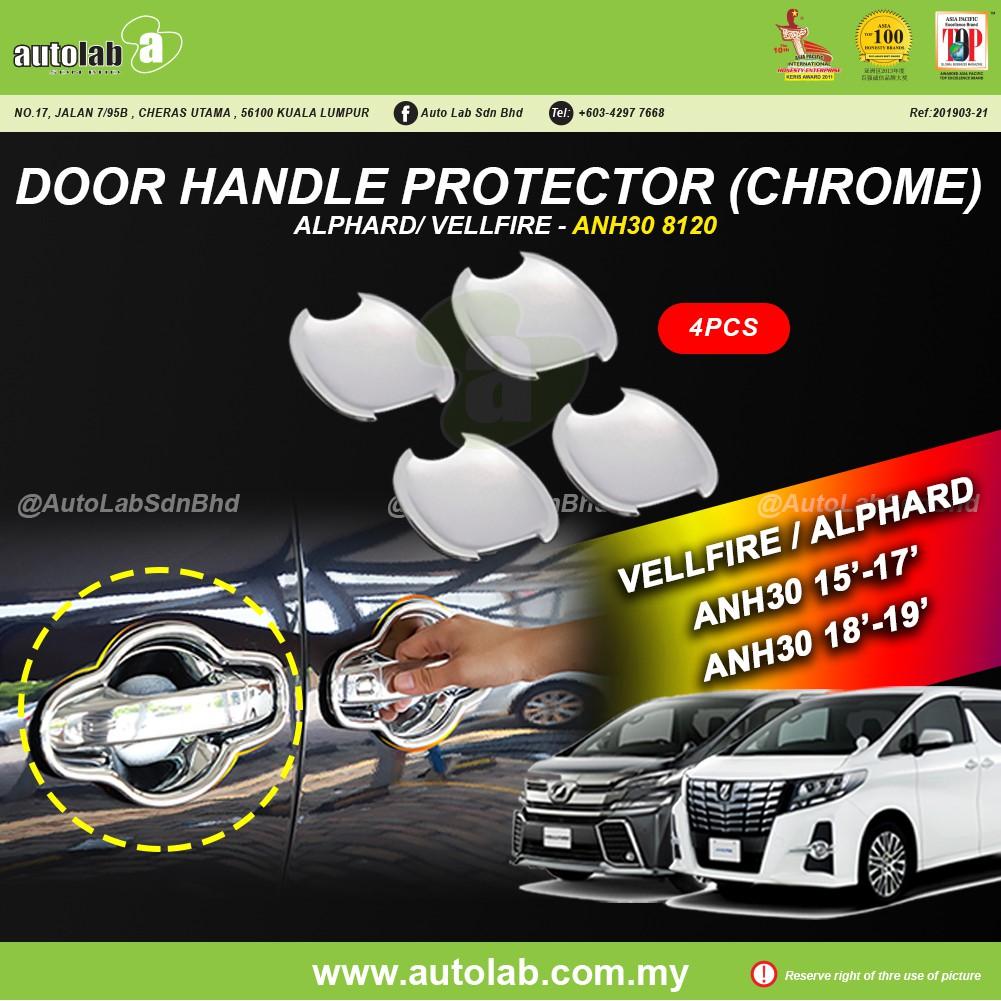 Door Handle Protector (Chrome) - Toyota Vellfire/Alphard ANH30 15'-19'
