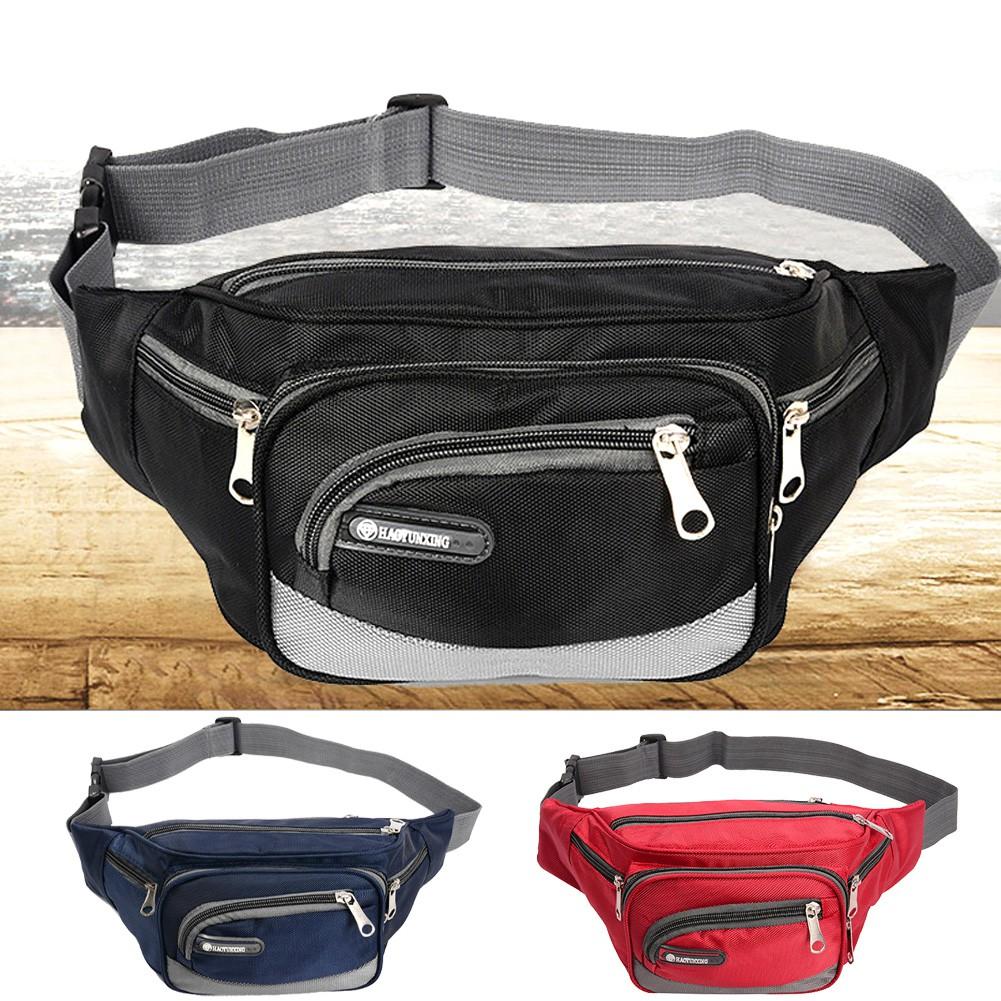 Waterproof Fanny Pack Men Waist Hip Belt Bag Purse Pouch Pocket Travel Sport Bag
