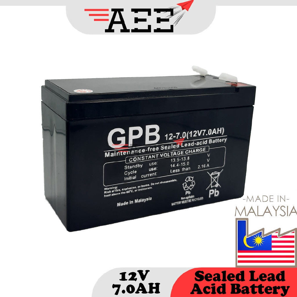 GPB 12V 7.0AH Sealed Lead Acid Battery