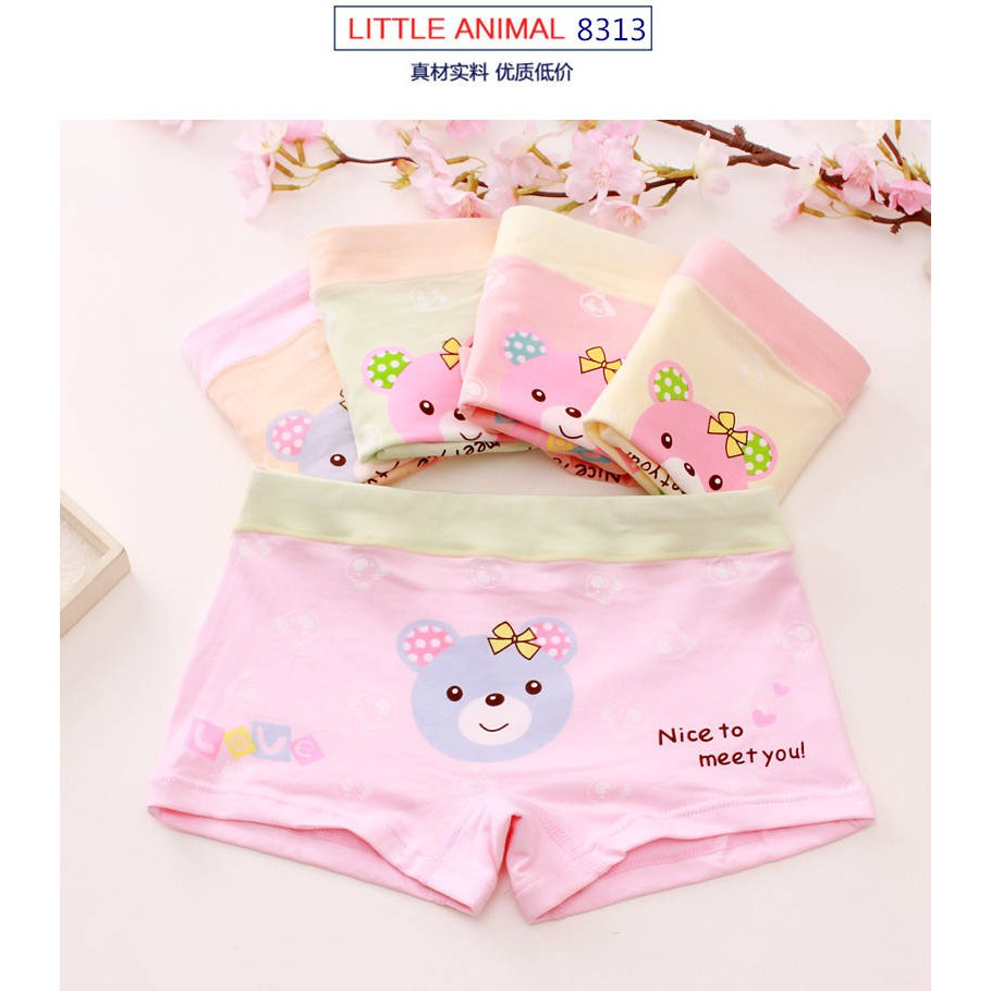 BABY GIRL KIDS CARTOON COTTON SOFT SHORTS BREATHABLE UNDERWEAR PANTIES NICE