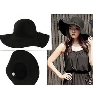 a1272259 Fashion Chic Women Soft Wool Felt Fedora Floppy Cloche Wide Brim Bowknot Cap  Hat | Shopee Malaysia