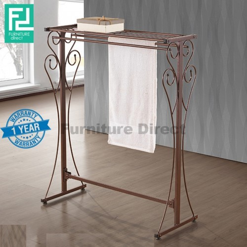 Furniture Direct BENNIS BS1016 wrought iron towel rack with organizer