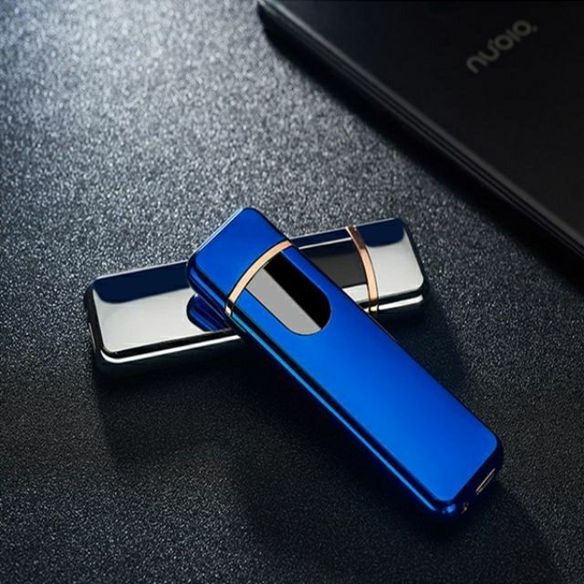 USB Rechargeable Touchscreen Electronic Dual Pulse Arc Cigarette Lighter