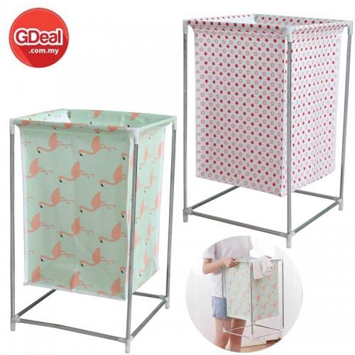 GDeal Waterproof Folding Storage Laundry Basket Assembly Toys Storage Basket