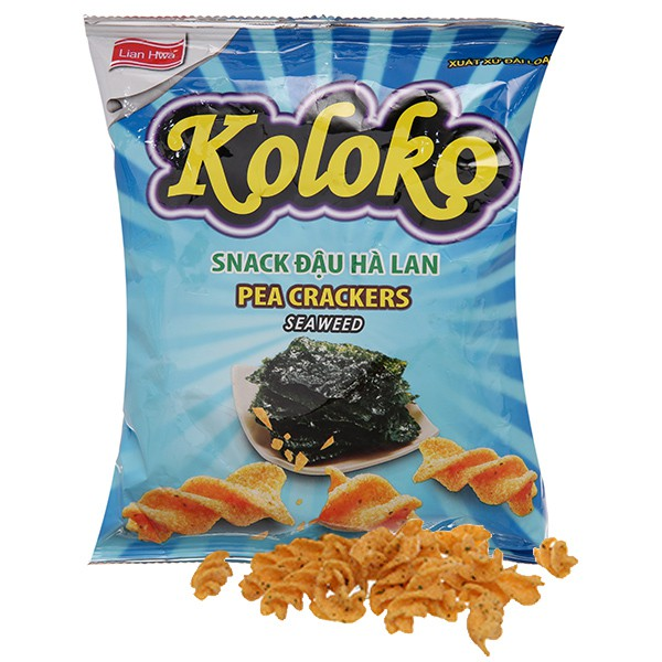 Taiwan Snacks KOLOKO Pea Crackers (Original /Sour Cream/Seaweed) 57g
