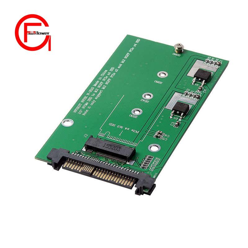 M.2 NVME SSD Key M Key B SSD to U.2 SFF-8639 Adapter Card Converter Kits for PC