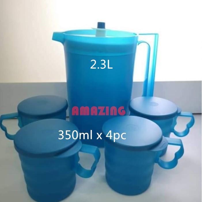 Tupperware Blossom Pitcher(1)2.3L OR Mug Mugs(4) 350ml