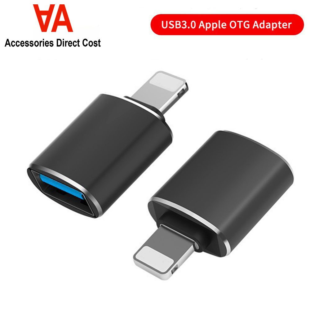 iOS OTG USB Adapter, Male to Female USB OTG Extension Connector Compatible iOS 9.2 to 13, Support USB Flash Drive Mouse