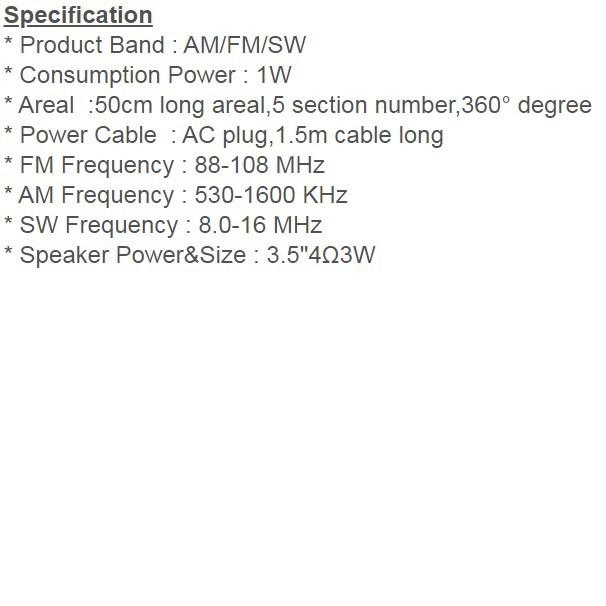 Phison 3 Band Portable Radio - PPR-51