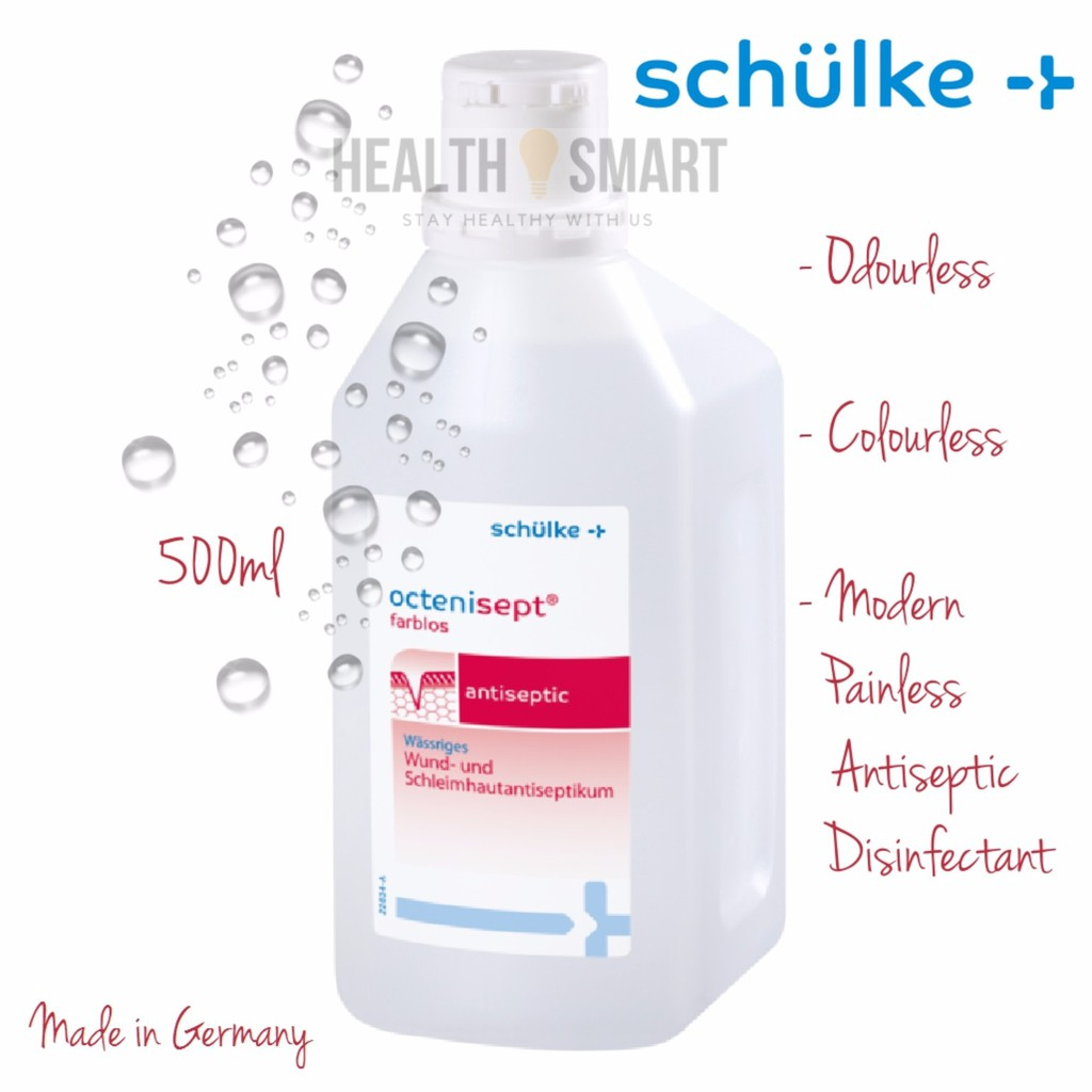 Schulke Octenisept Antiseptic Solution 50ml 500ml Shopee Malaysia Betadine 30 Ml Free Gift
