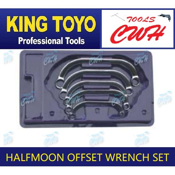 King Toyo KTHOWS-5 Halfmoon Offset Wrench Set                 -------------------STANLEY TOPTUL BONDHUS SATAGOOD SATA M1