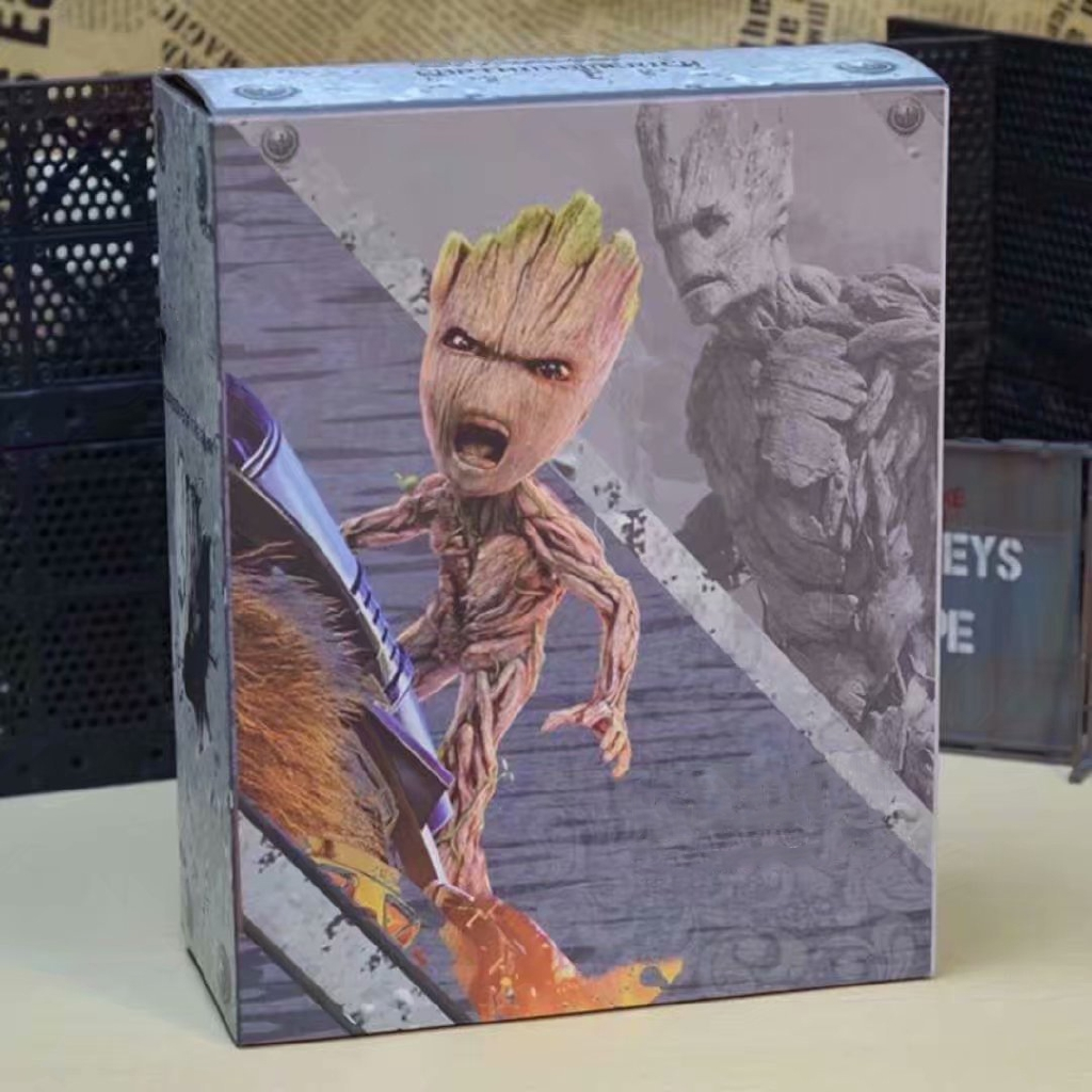 HT1:1 Scale wolf anime Galaxy Guard Small tree Groot Action Figure New