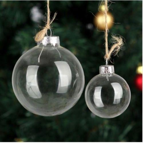 Clear Christmas Ornaments.Clear Glass Ball Wedding Balls Christmas Glass Ornaments Pendants