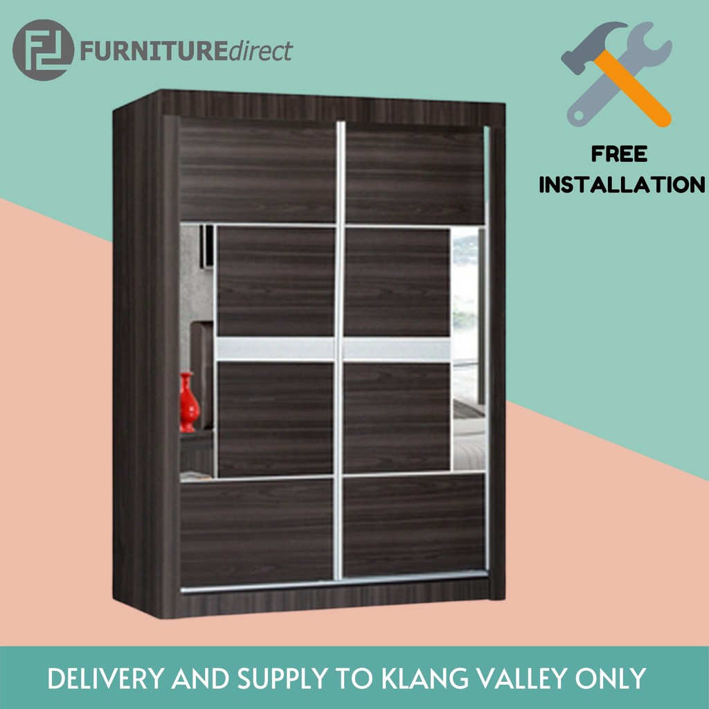 Furniture Direct 4 Feet sliding door wardrobe- SELL TO KLANG VALLEY ONLY