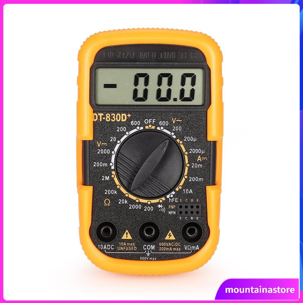 DT-830D Mini Pocket Digital Multimeter 1999 Counts AC//DC Volt Amp Ohm Diode hFE Continuity Tester Ammeter Voltmeter Ohmmeter