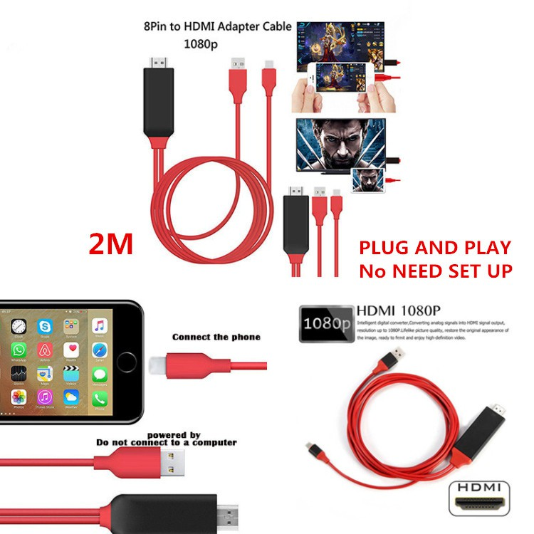 Micro USB 5 Pin MHL to HDMI 1080P HD TV Cable Adapter for Samsung S2 Xiaomi Oppo | Shopee Malaysia