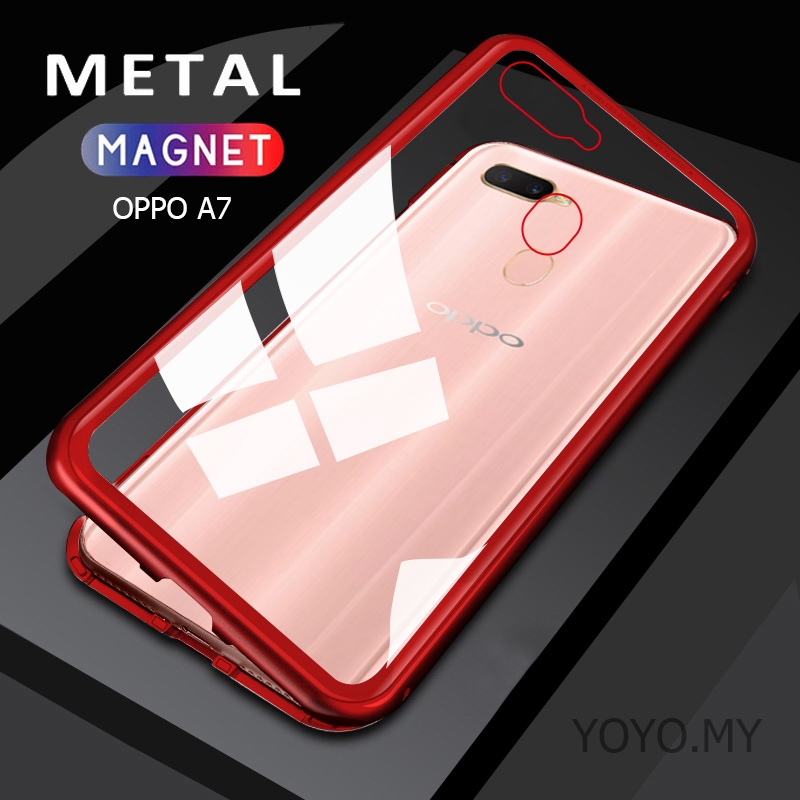 Casing OPPO F9 Find X F7 F5 OPPO F1s Tempered Glass Back Case Marble Hard Cover