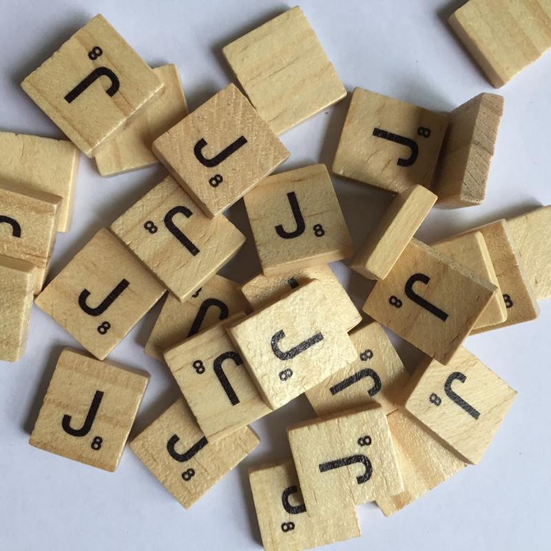100 Wooden Alphabet Scrabble Tiles Colorful Letters /& Numbers For Crafts Wood