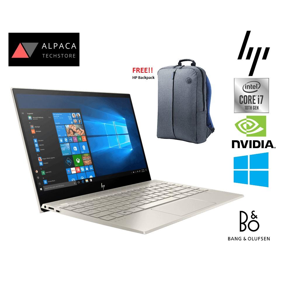 Hp Envy 13 Aq1006tx 10th Gen Core I7 13 3 Fhd 16gb Nvidia Ssd Notebook Shopee Malaysia