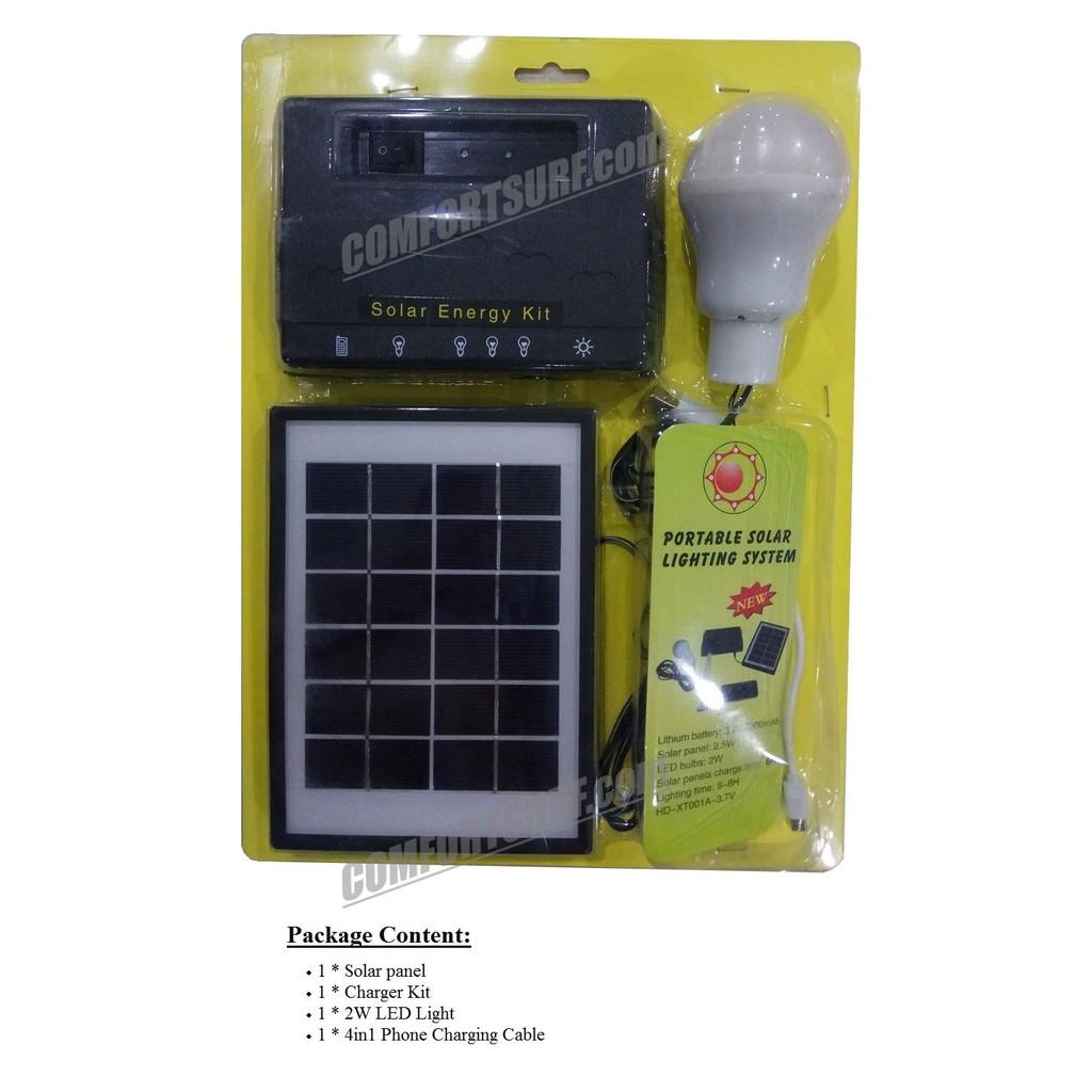 Portable Solar Powered LED Bulb Lighting System Kit MaxSolar SL022