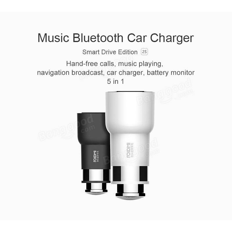 Xiaomi RoidMi 3S 5in1 Music Bluetooth Car Charger black