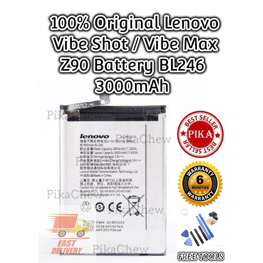 『PIKA』100% Original Lenovo Vibe Shot Battery | Lenovo Vibe Max Battery |  Lenovo Z90 Battery | BL246 Battery | 3000mAh