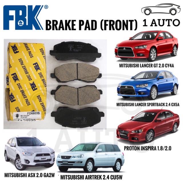 FBK FRONT BRAKE PAD for PROTON INSPIRA, MITSUBISHI LANCER GT, ASX, AIRTREK