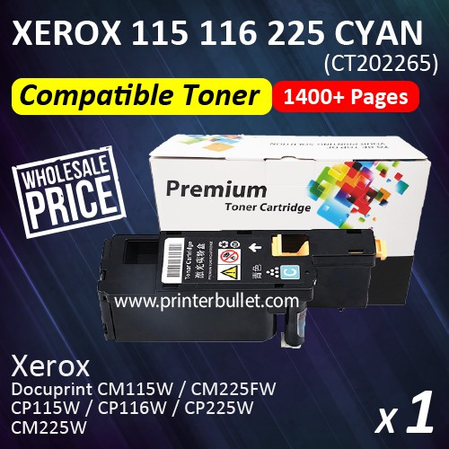 Compatible Fuji Xerox CP115/116/225 Cyan Toner Cartridge (CT202265)