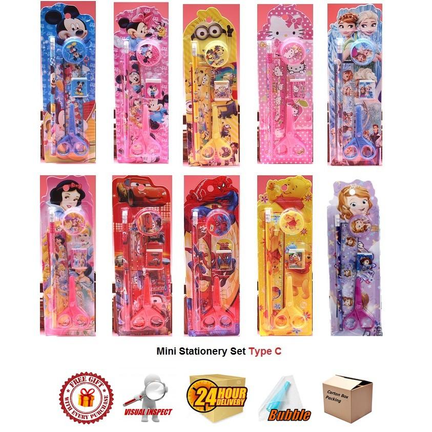Mini Stationery Set Type C Birthday Gift Spiderman/ Doraemon/ Frozen/ Kitty