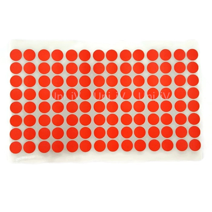 50 Orange  Triangles Stickers Self Adhesive Vinyl Labels size 10mm each