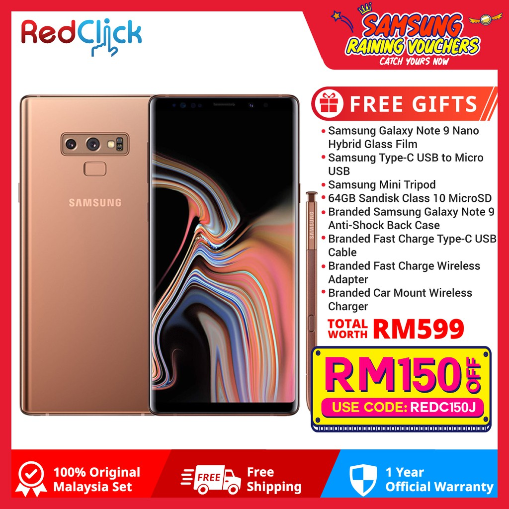 [Use Voucher To Get EXTRA Discount] Samsung Galaxy Note 9/N960 (6GB/128GB)  + 8 Free Gift Worth RM599