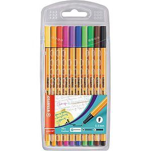 Stabilo Point 88® 10 Fineliner Ink Pen Set 8810