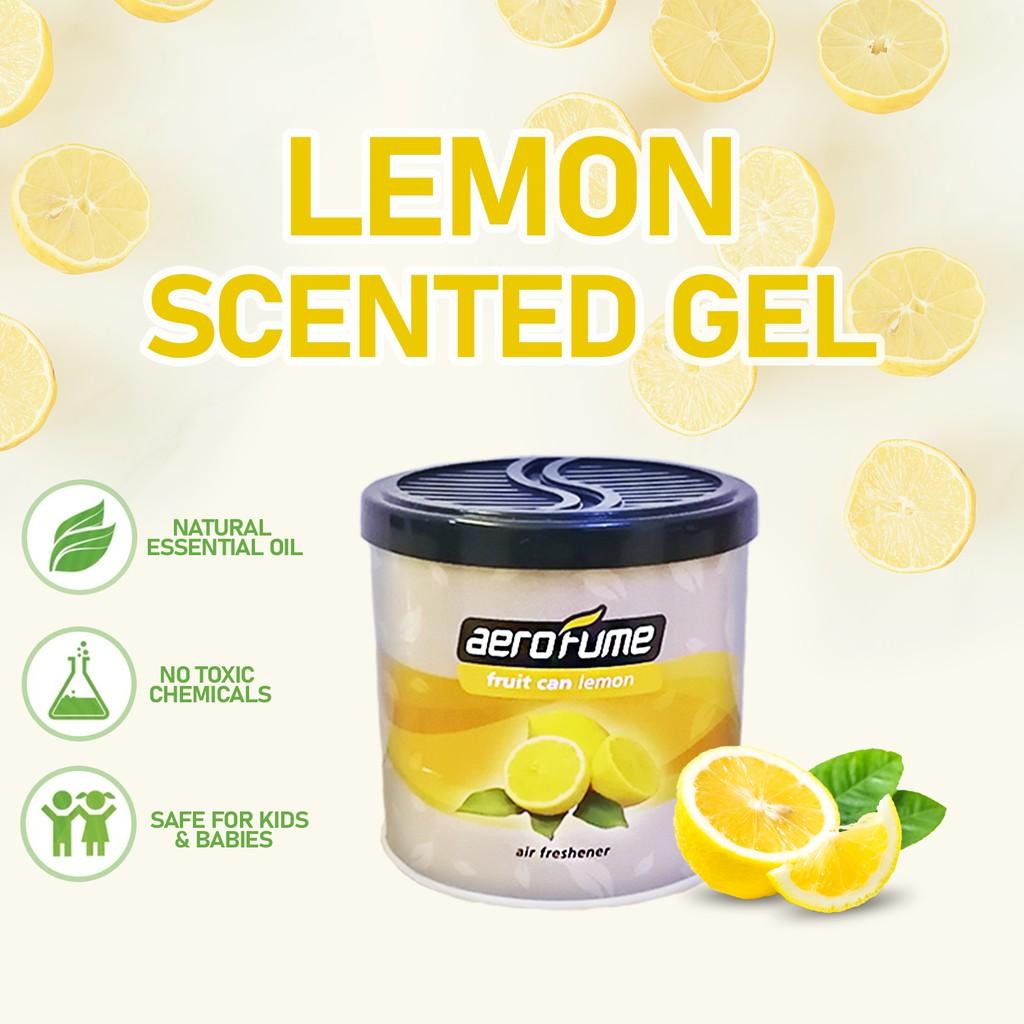 Aerofume Natural Scent Fruit Scented Gel (Lemon) 70g Car Perfume Air Freshener Room Fragrance Pewangi Kereta