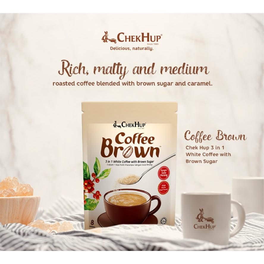 Chek Hup Coffee Brown (25g x 8s) [Bundle Of 4 Pkts]