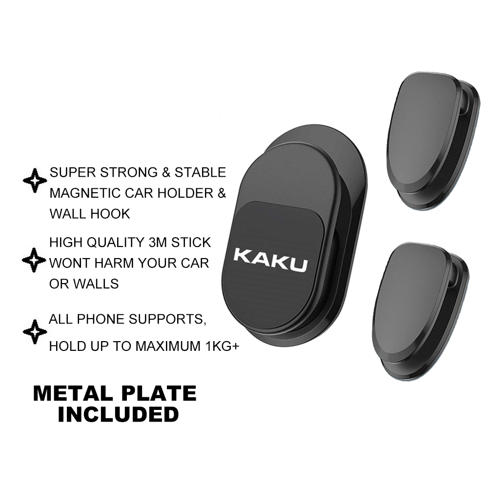 IKAKU KAKU HAIBEI Magnetic Car Phone Holder Hook Multifunctional Stable Waze GPS Stand Keys Hang Smartphone Android