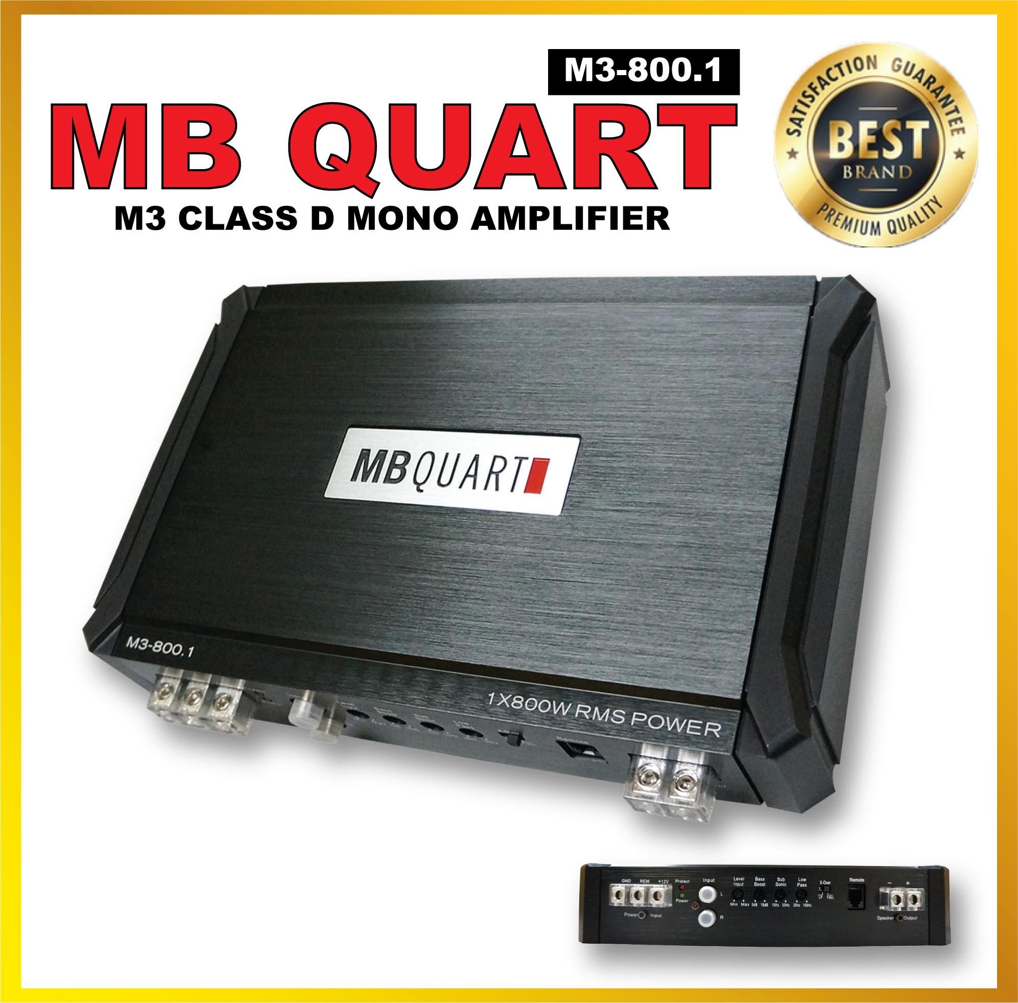 M3-800.1 - MB QUART M3 CLASS D MONO AMPLIFIER