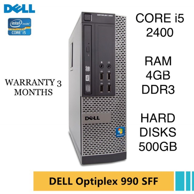 CORE i5 - 2400 / DELL OPTIPLEX 990 / RAM 4GB DDR3 / HARD DISKS 500GB / CPU  PC DESKTOP COMPUTER / i3 i7 i9 AMD