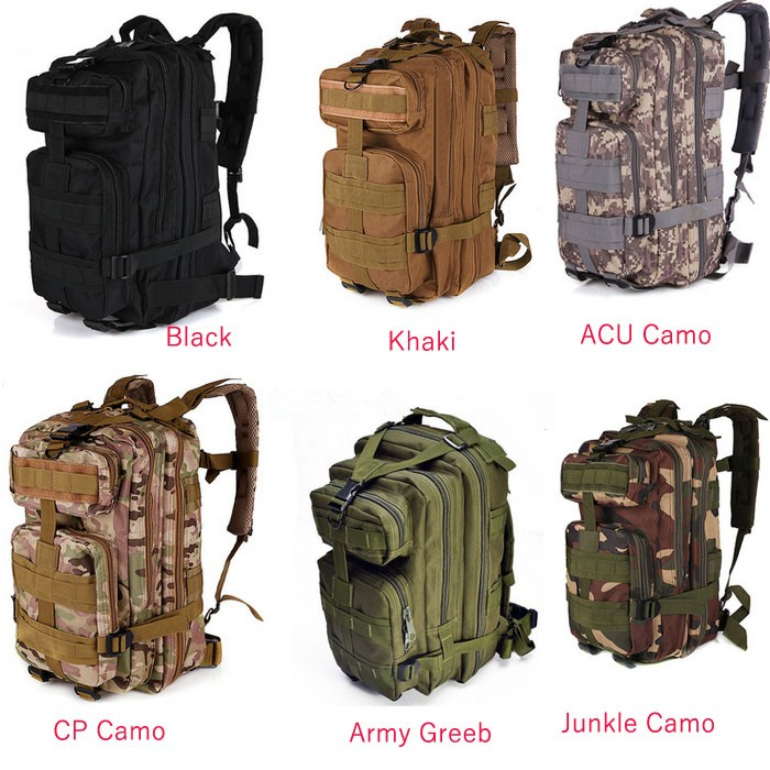 fb5f9c95bd84 3P Camo Army Tactical Design Multipurpose Outdoor Backpack Waterproof  Hiking
