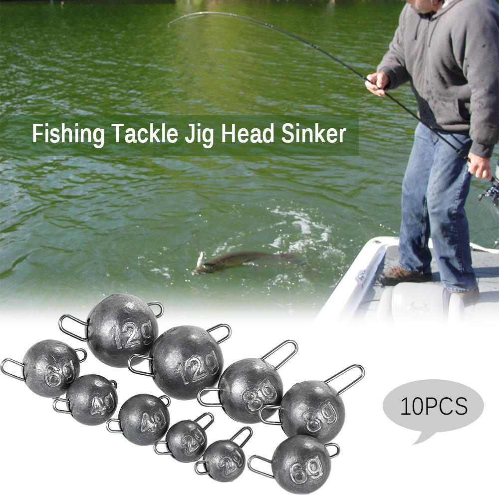 10PCS Sinker Bullet Weights Terminal Tackle Fishing Tackle Jig Head Lead  Sinker