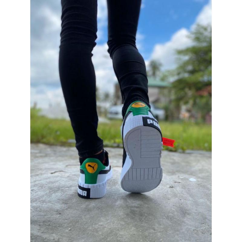 Puma Classic Sole Black White Yellow Casual Shoes Sneakers Men - 41-45 EURO