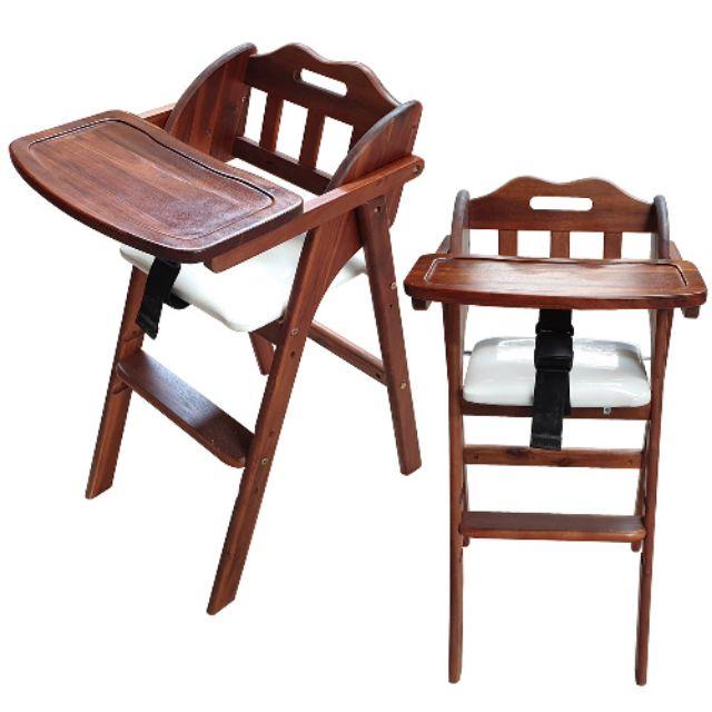 Iplus Laison Korean Brand Baby High Chair Wooden Folding Foldable