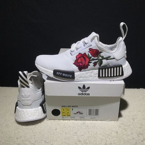 a750d4304 OFF WHITE x Adidas Consortium NMD R1 Flower Boost Sport Running Shoes  Sneakers