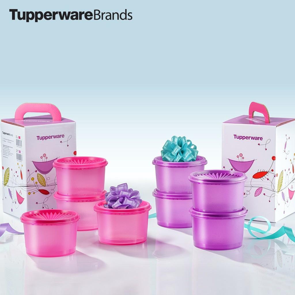 Tupperware Mini Deco Canister (4) 600ml Gift Set