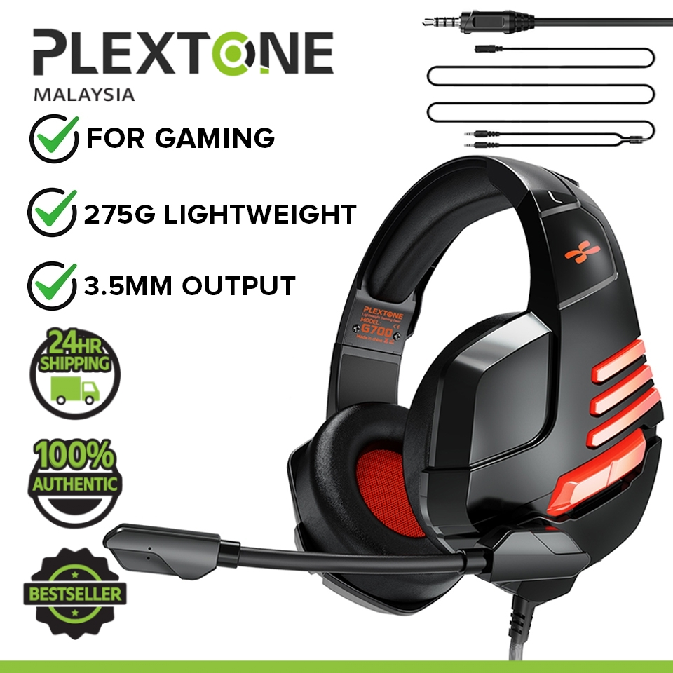 PLEXTONE G700 Super Lightweight Gaming Gear EXTRA BASS 3.5mm Audio Headset Stereo Gamer Headphones