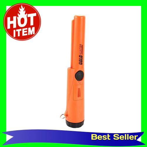 Waterproof High Sensitivity Handheld Metal Detector Treasure Archaeological Gold Locator with LED Light (Orange)