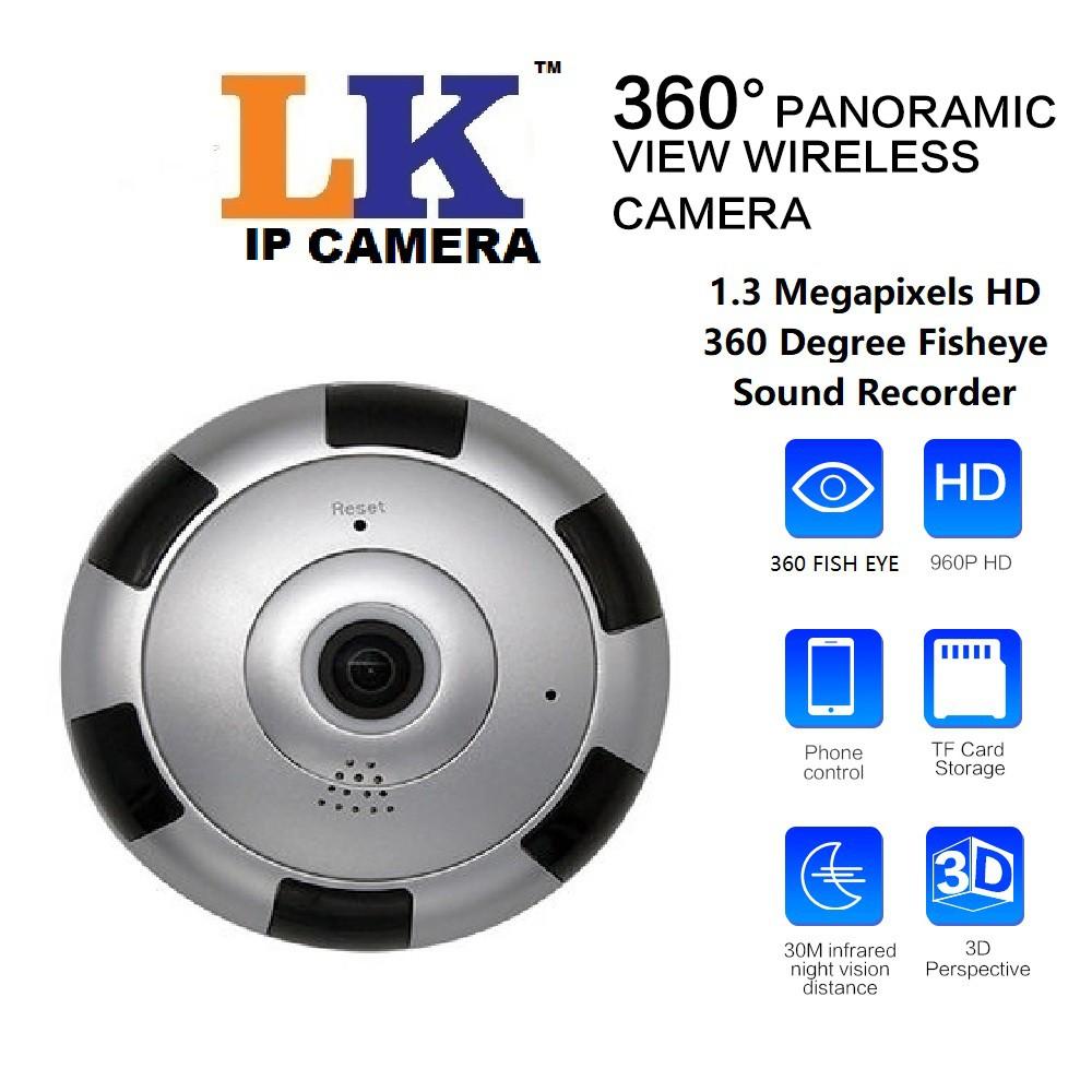 V380 Full HD1080P 360˝ Wifi Ip Camera Panoramic Camera Sound Record Alarm  CCTV