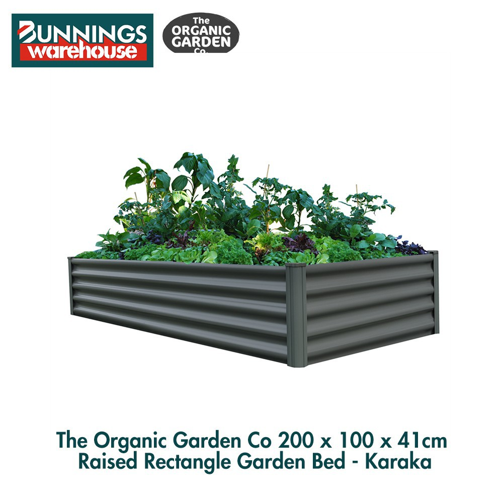 Bunnings The Organic Garden Co #3321602 200 x 100 x 41cm Raised Rectangle Garden Bed - Karaka